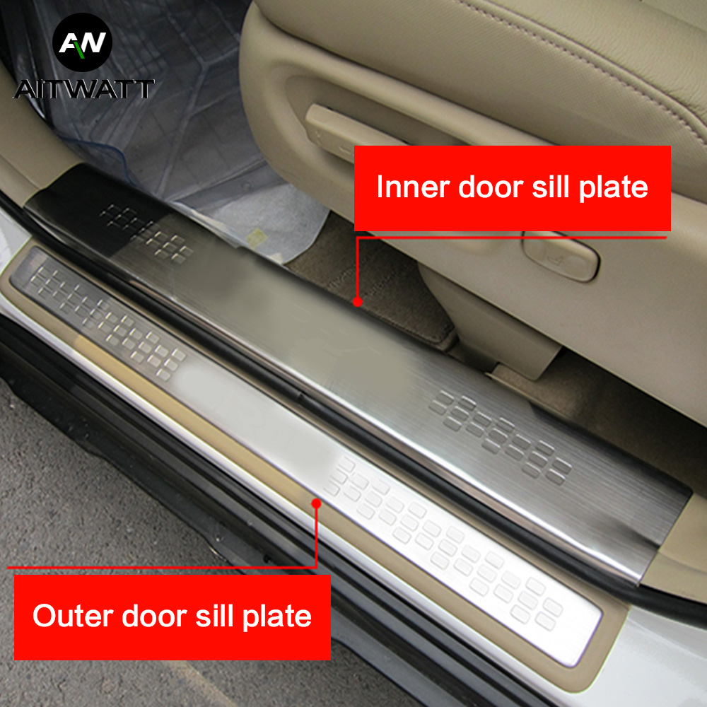 For Honda CRV 2007 2008 2009 2010 2011 Stainless Steel Door Sill Scuff Plate Cover Car Styling Accessories Guard Protector 4pcs in Chromium Styling from Automobiles Motorcycles