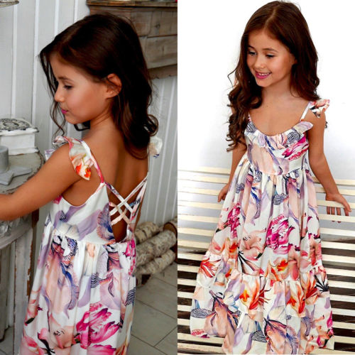 26810a7f083f New Cute Baby Kids Girls Dress Toddler Princess Party Tutu Summer Floral Dress  dress for girl -in Dresses from Mother & Kids on Aliexpress.com | Alibaba  ...