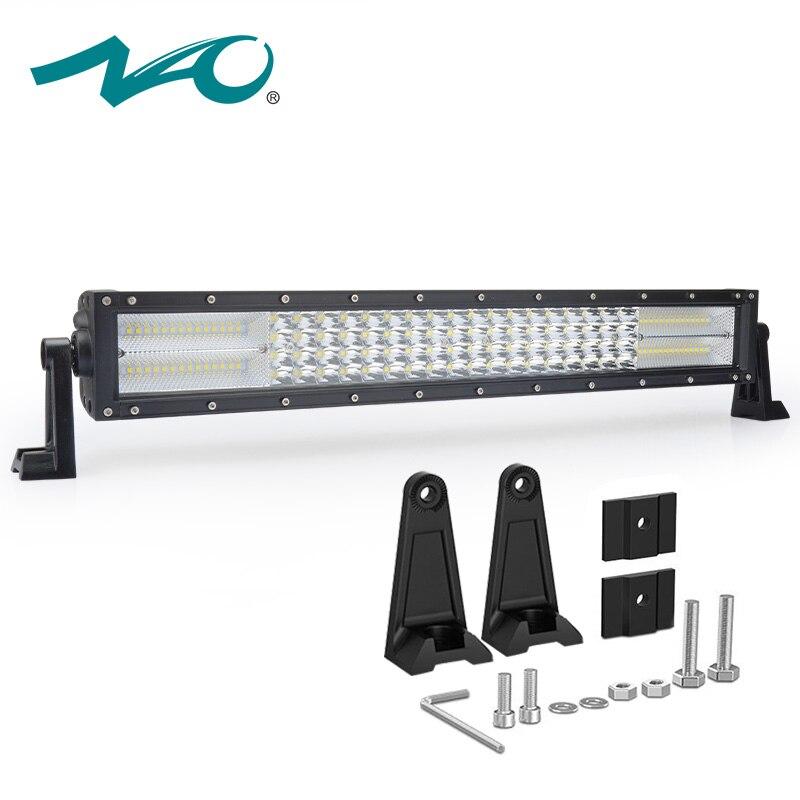 NAO 22 дюймов светодио дный светодиодный светодио дный бар offroad светодиодный 4x4 4светодио дный WD светодиодный свет бар прямой quad ряд 120 Вт комби...