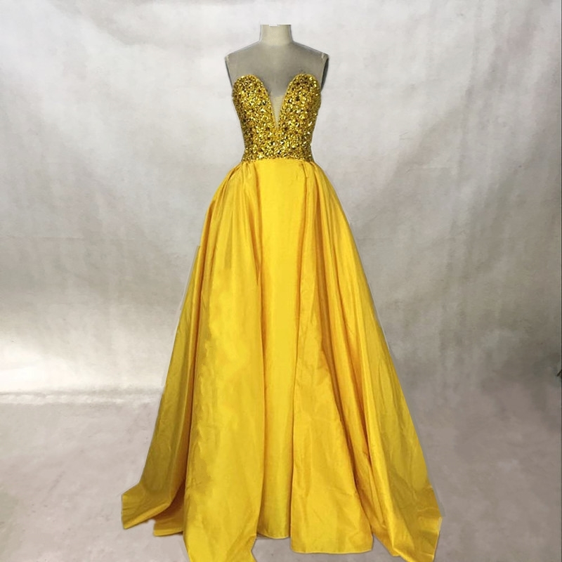 It's YiiYa Cocktail Dress 2019 Gold Yellow Boat Neck ... |Yellow Gold Party Dress