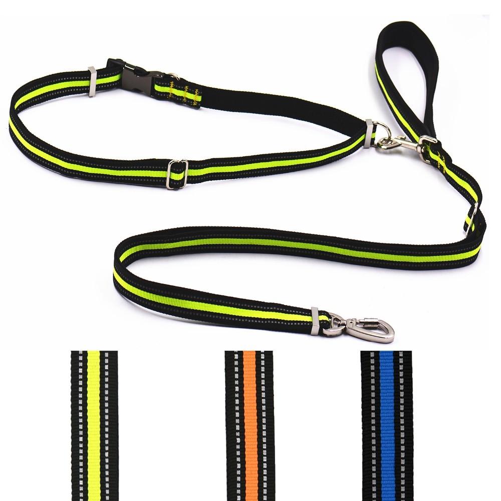 ∞Mejor calidad reflectante perro libre de manos perro con correa de ...