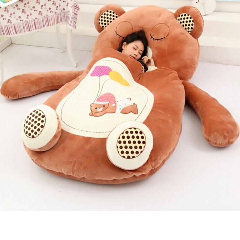 Giant Sleeping Bag Soft Plush Animal Frog Bear Monkey Beetle Cat Beanbag Carpet