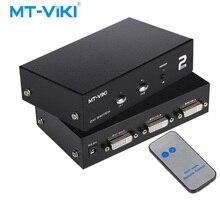 MT-VIKI 2 Port DVI Switch Box in 1 out Dual Eingang IR Fernbedienung Unterstützung Wählen Sie 2048*1536 MT-DV201