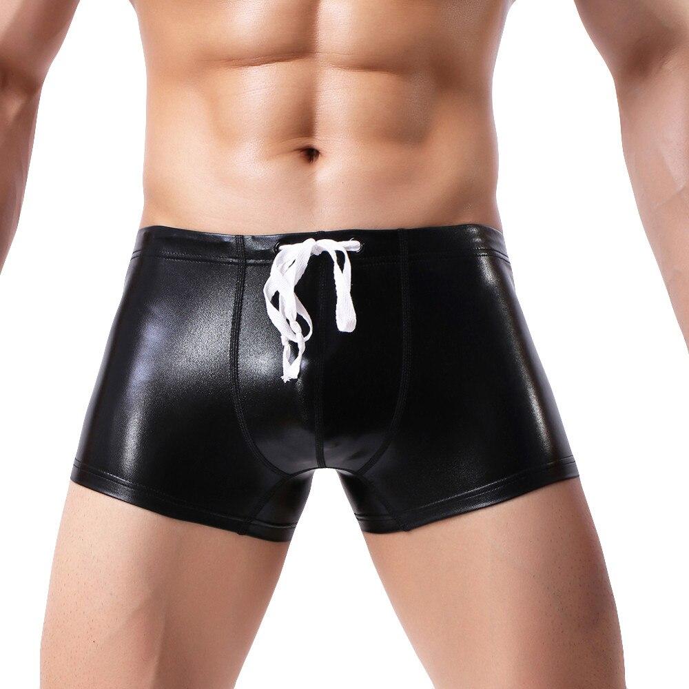Gay Underwear Pants Jockstrap Swimming Black Sexy Men Interior Bright Solid Ropa Soft