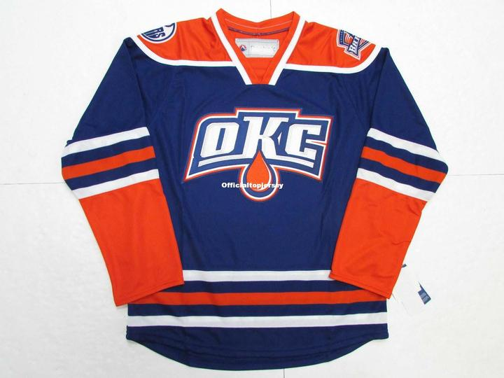 29d81cc9c22 Oklahoma City Barons Third Premier Blue Custom Double Stitched Jerseys. US  $43.99. Retro star #80 Jerry Rice Embroidered Throwback Football Jersey