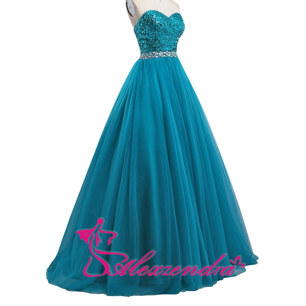 Alexzendra Ball Gown Beaded Sweetheart Prom Dresses Long Evening ...