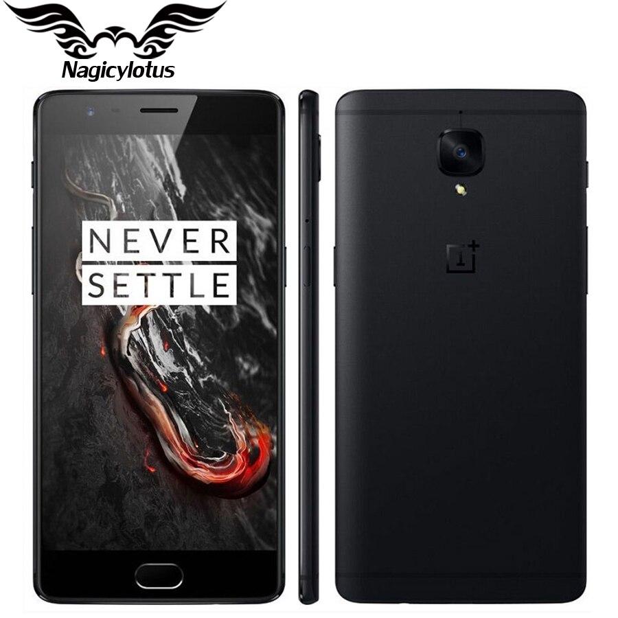 Nouvelle D'origine Oneplus 3 t A3010 4g Mobile Téléphone Snapdragon 821 Quad Core 5.5 6 gb RAM 64 gb ROM Android NFC D'empreintes Digitales Smartphone