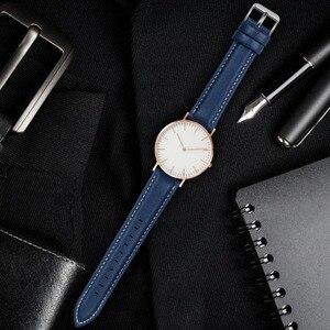 Image 3 - Ремешок для часов Axus, из натуральной кожи, с серебристой или золотой пряжкой, 12 цветов, 18 мм, 20 мм, 22 мм, 24 мм