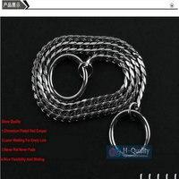 Mostra quality cromato rosso rame chiaro 4mm dia p catena del serpente collare dell'animale domestico del cane di nizza flessibilità e scorrevole