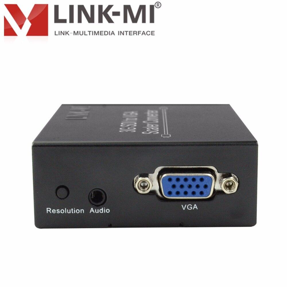 LINK-MI LM-SVG1 HD-SDI/SD-SDI/3g-SDI to VGA скалер-многофункциональная HD 3g sdi видео конвертер адаптер для потокового видео игры