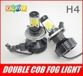 one pair H4 45W Canbus LED headlight ,fog lamp No Error Car High Beam Light + cool fan 3600LM 6000K FREESHIPPING GGG