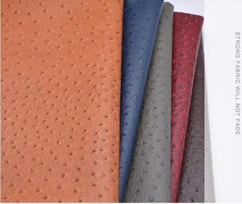 Аксессуары для украшения дома узор страуса искусственной Синтетический кожаная ткань, винил из искусственной кожи мягкой ткани для дивана,...