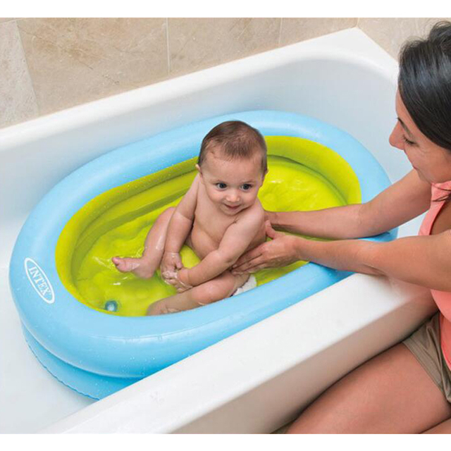 High Quality Beautiful Color Infant Baby Shower Bath Tub Inflatable  Thickening Basin Water Distribution Pump 86cm