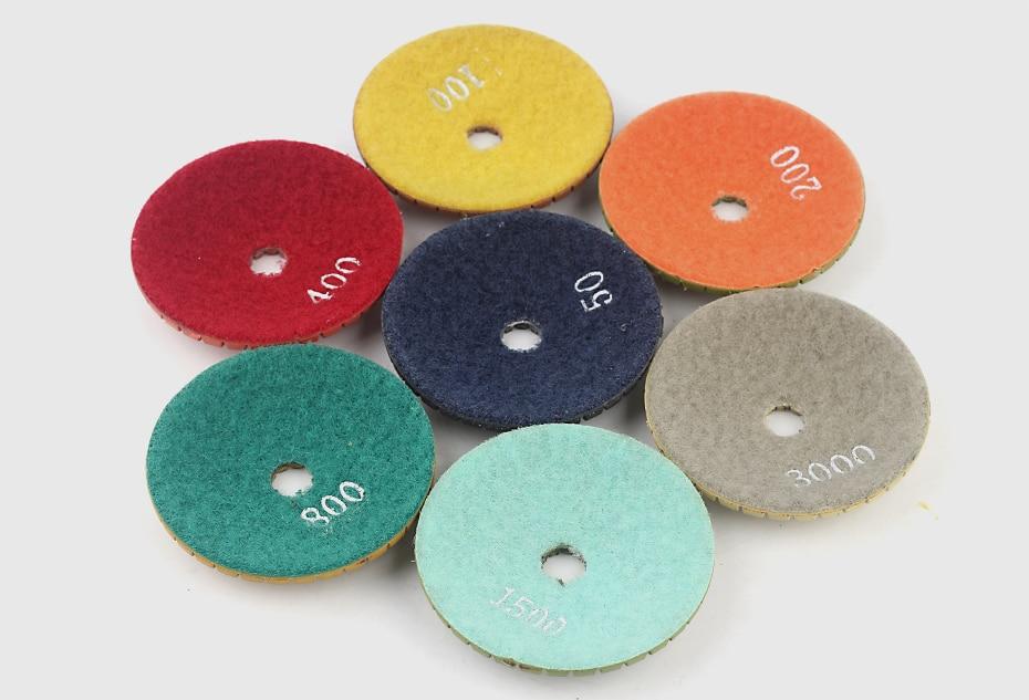 Diamond Convex Polishing Pad 8pcs Bowl Arc Type Diamond Polishing Pad For Marble Granite With Backer Pad Convex Disc