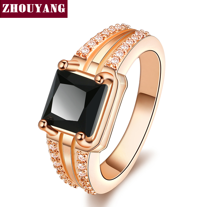 Rose Gold Color Prince Cut Wedding & Engagement Ring Jewelry Made With Cubic Zirconia For Women ZYR548