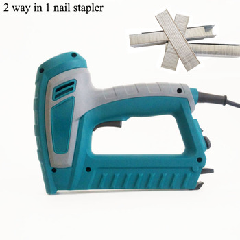 220-240V  2 way In 1 Electric Staple Gun  Nail Gun Adjustable Power Woodworking Tool With 500 Piece Nails