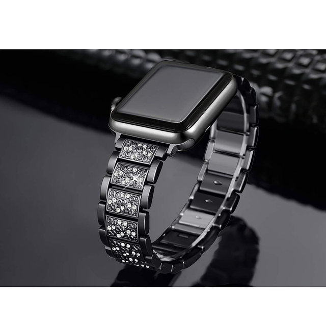 ASHEI Stainless Steel Band For Apple Watch 4 Bands 40mm 44mm Rhinestone Bling Bracelet For Apple Watch Strap 38mm 42mm Series 3 3