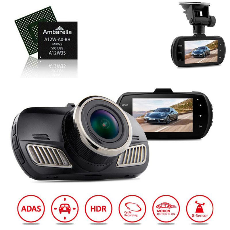 imágenes para Original DAB201 A12 Ambarella Cámara Del Coche Dvr Grabador de Vídeo HD 1440 P con GPS Dash Cam Video Recorder panel Cámara Blackbox