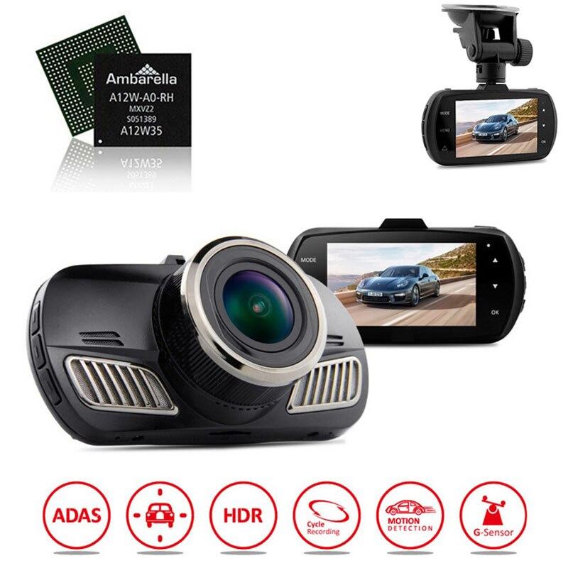 Original DAB201 Ambarella A12 Car Dvr Camera Video Recorder HD 1440P with font b GPS b