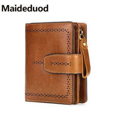 Maideduod Genuine Leather Women Wallet And Purses Coin Purse Female Small Portomonee Rfid Walet Lady Perse For Girls Money Bag kavis genuine leather women wallet female small walet portomonee lady mini zipper money bag vallet coin purse card holder perse