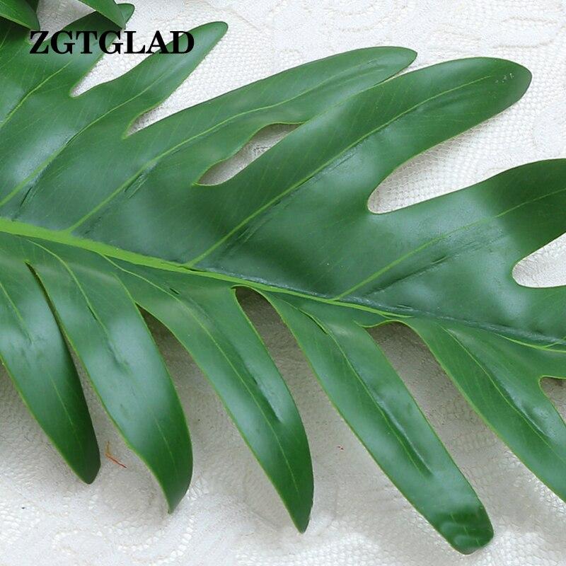 1pcs large artificial palm leaf green plants flores home wedding diy