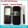 HKFASTEL Für Nokia 6233 Hohe Qualität Neue Voll Komplette Handy Gehäuse Abdeckung Fall + Englisch/Russisch Tastatur + mit tracking-in Handyhüllen aus Handys & Telekommunikation bei