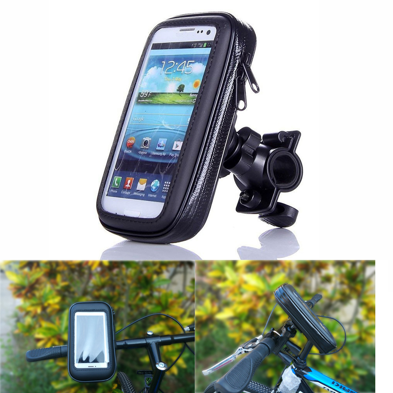 "Below 5.5/"" Bicycle Bike Waterproof Phone Case Mount Holder Stand For Mobiles"
