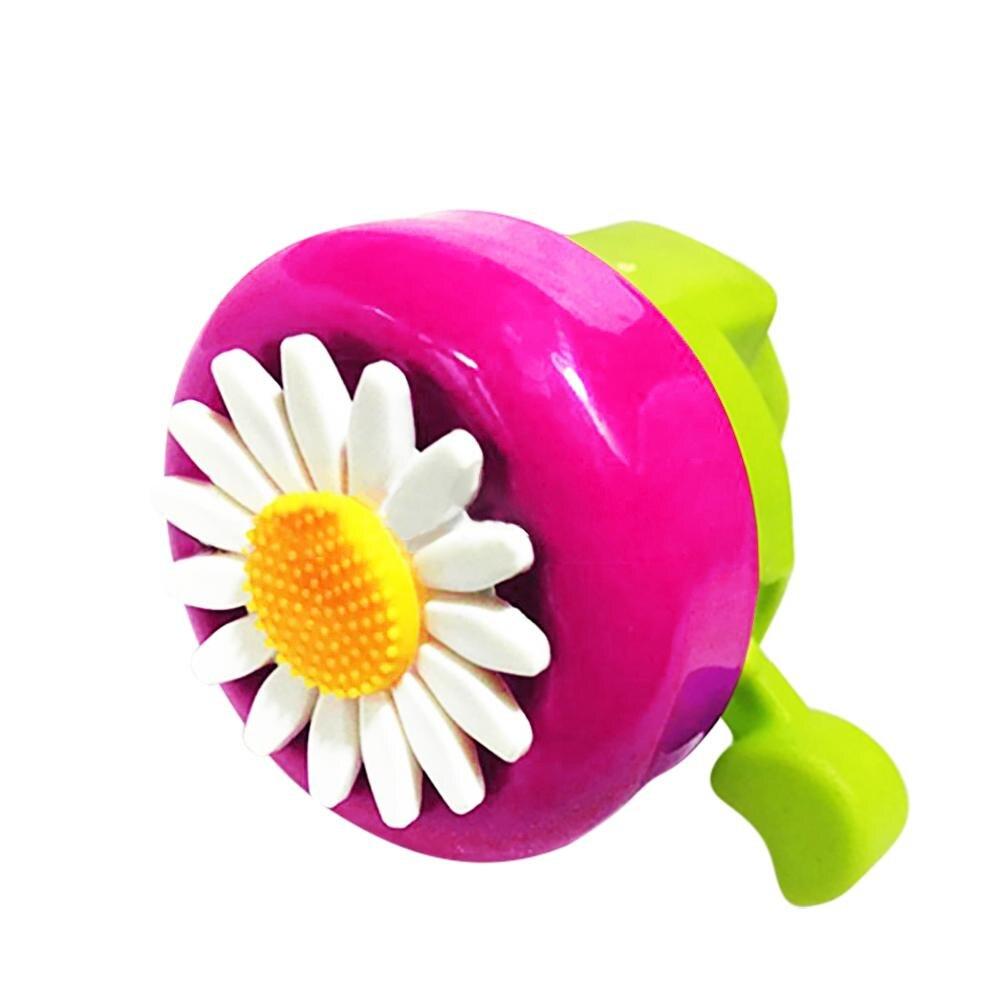 Железная крышка Пластиковый велосипедный колокольчик Красное сердце цветок дети Хризантема Рог Спорт на открытом воздухе езда Аксессуары ...