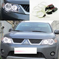 For Mitsubishi Outlander 2007 2008 2009 Halogen headlight Excellent Ultrabright illumination CCFL Angel Eyes kit Halo Ring