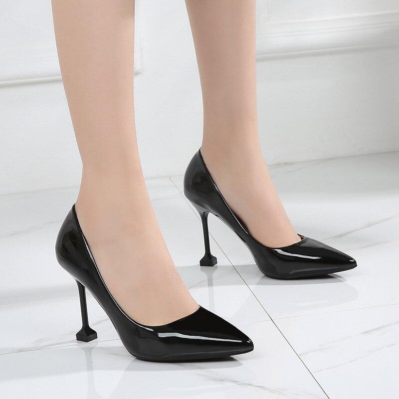 37d756756 Apricot Toe Preto Mulheres Saltos black Altos Nu Apontado Sapatos Femininos  Sexy Vestem Calçados De Casamento ...