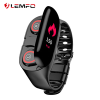 LEMFO M1 Newest Smart Watch With Bluetooth Earphone Heart Rate Monitor Smart Wristband Long Time Standby Sport Watch Men