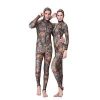 Dive&Sail UPF50+ 0.5MM Camouflage Muslim Snorkeling Dive Skin Rash Guards One piece With Hood Jump Stinger Suit Men Women