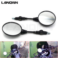 Black Universal Aluminum CNC Motorcycle Rear View Mirrors Rearview Side Mirror For KTM 125 150 200