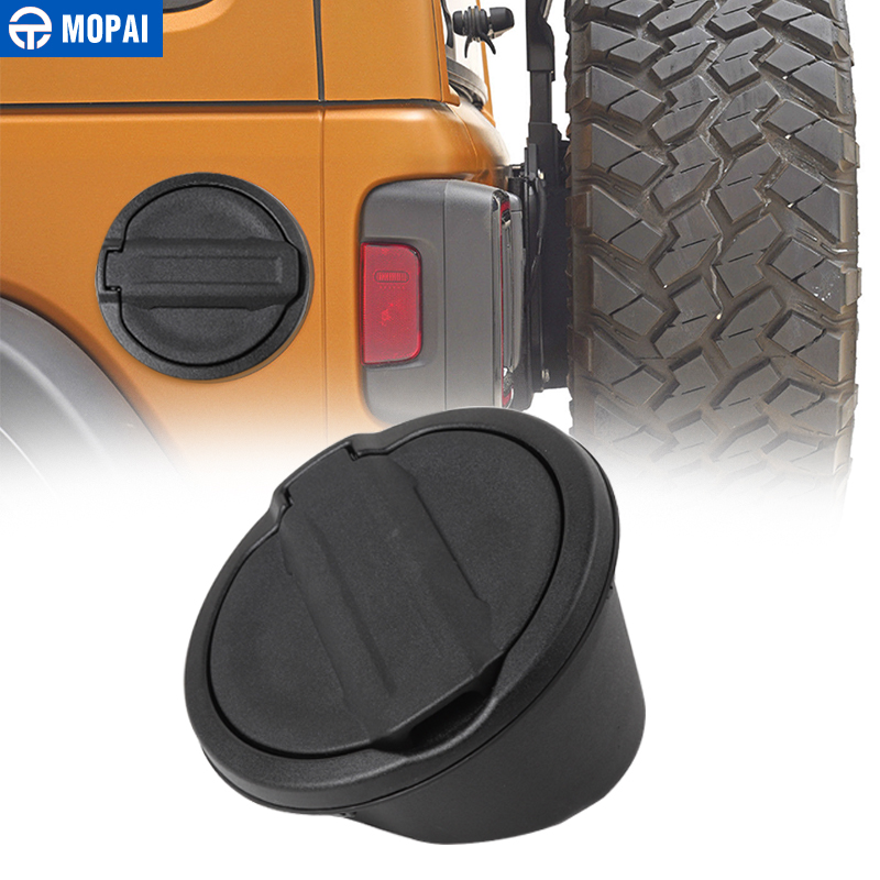 MOPAI Car Gas Fuel Tank Cap Guards With Rubber Gasket Ring Cover for Jeep Wrangler JL 2018 Up Exterior Decoration Accessories motorcycle rubber black gas fuel tank with cap for honda crf230f crf 230f 2015 2016 2017