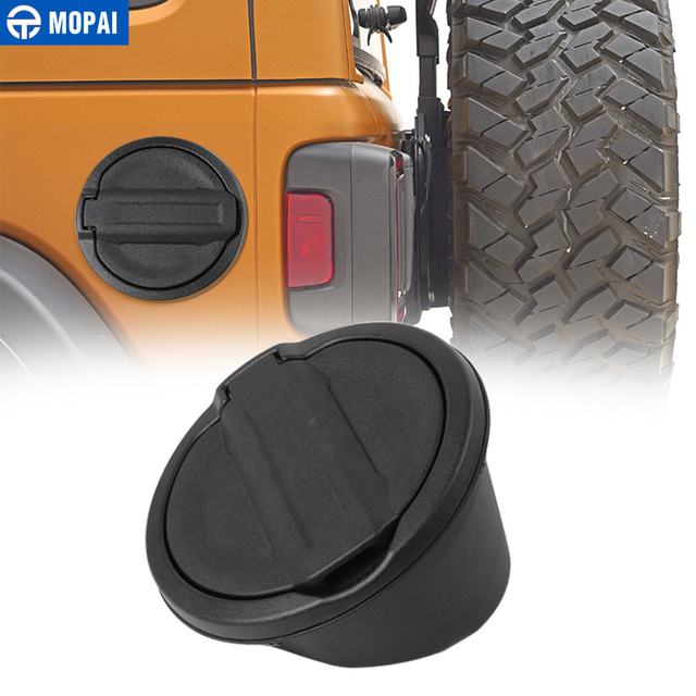 MOPAI Car Gas Fuel Tank Cap Guards With Rubber Gasket Ring Cover for Jeep Wrangler JL 2018 Up Exterior Decoration Accessories