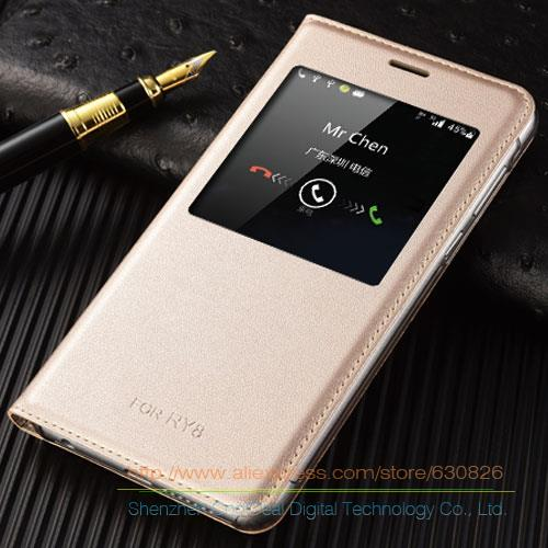 Original Style PU Leather Cover Cases For Huawei Honor 8 5.2inch Luxury Mobile Phone Smart Flip Case & View Window