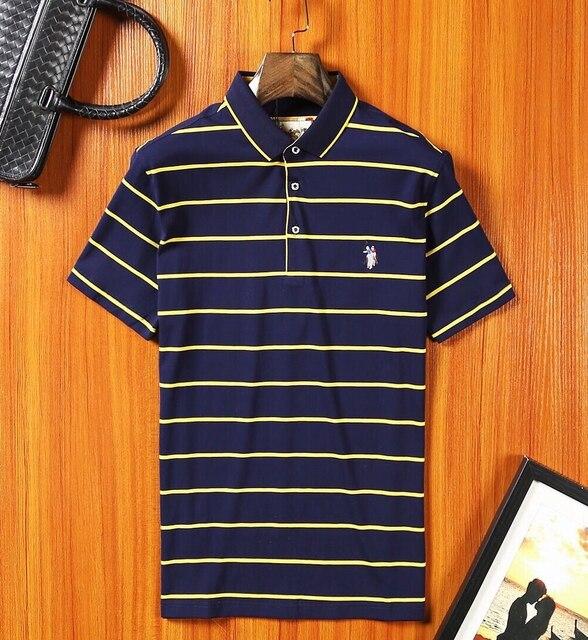 2017 Лето Mens Вскользь Polo Рубашки полосой Марки Одежды С Коротким Рукавом мужская Одежда Homme Топы M-3XL плюс размер Высокая качество