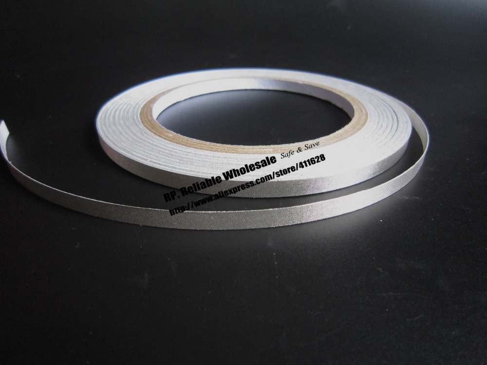 1x 7mm* 20 meters Conductive Fabric Tape, Single Adhesive, EMI shield, Electromagnetic Field Shielding Fabrics earthing fitted sheet 137x 203cm silver antimicrobial fabric conductive