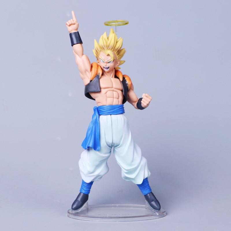 Dragon Ball Z Angel Gogeta Vegeta Son Goku Fusion Super Saiyan Chocolate Figuration Com Action Figure Pvc Dbz Model Toys & Hobbies