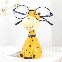 1pc Resin Giraffe Zebra Glasses Stand Handmade Decorative Craft Lovely Eyeglass Sunglasses Holder Animal Ornament Figurines