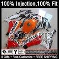 8gifts+ For HONDA Repsol orange CBR 1000RR 1000 RR 12 13 41JJ90 Injection CBR1000 RR 2012 2013 Red white CBR1000RR 12-13 Fairing