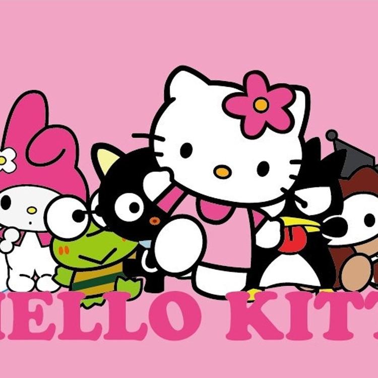 Deft design pink color hello kitty cat wallpaper 3d children room 3d