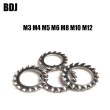 DIN6798A M3 M4 M5 M6 M8 M10 M12 304 Stainless Steel Washers External Toothed Gasket Washer Serrated Lock washer GB862.2 SUS304(China)
