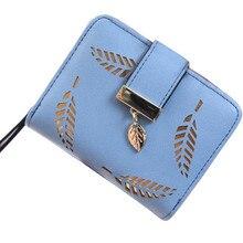 Women Bag Leaf Bifold Wallet Leather Clutch Card Holder Purse Handbag portafoglio donna billeteras para mujer monederos clip