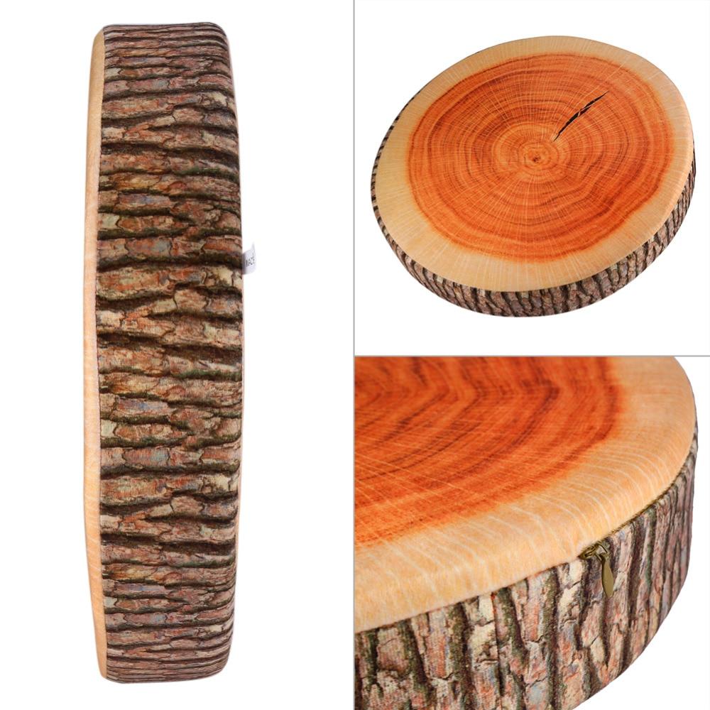 Soft Seat Cushion Office Round Wood Pillow Plush Cushion Chair