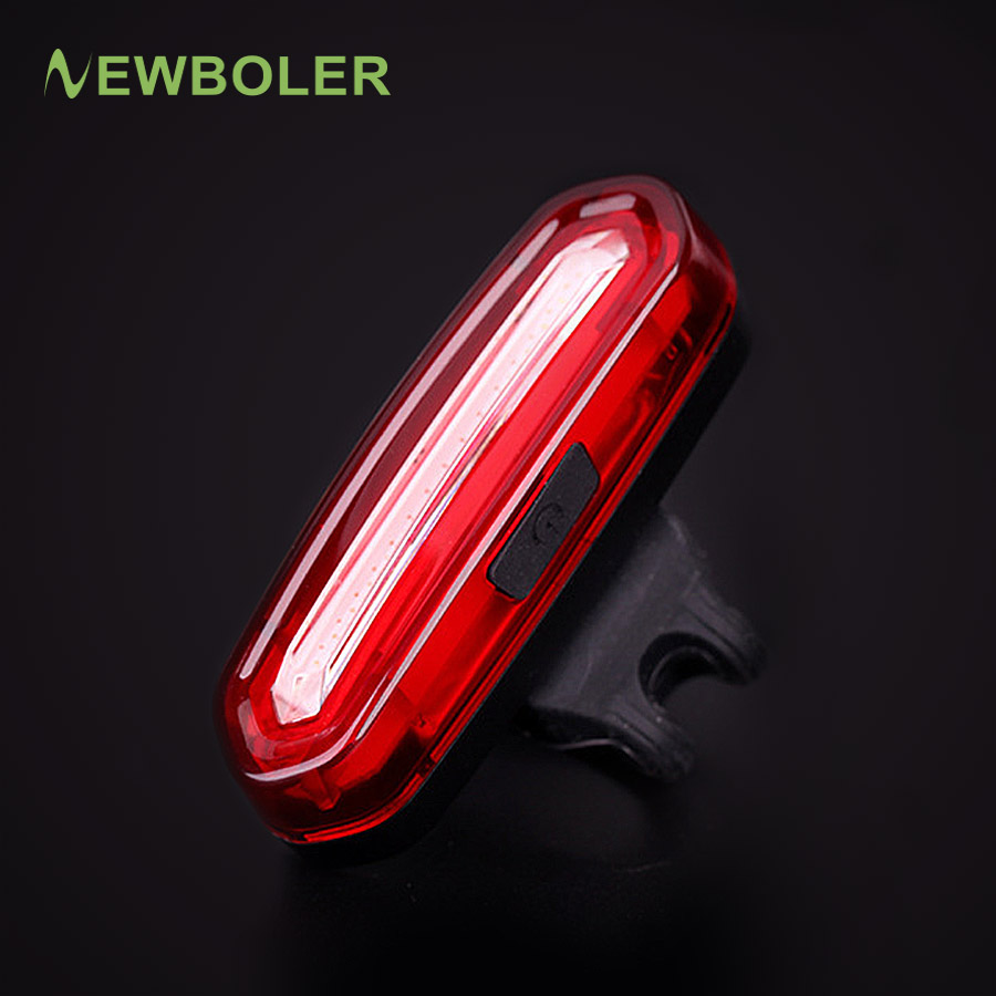 NEWBOLER Rechargeable Bicycle Tail Light LED USB Mountain Bike Taillight MTB Safety Warning Cycling Rear Light Lamp Waterproof wireless 2 4ghz led light traffic warning sign bicycle backpack rucksack rechargeable usb cable cycling backpacks bike bag