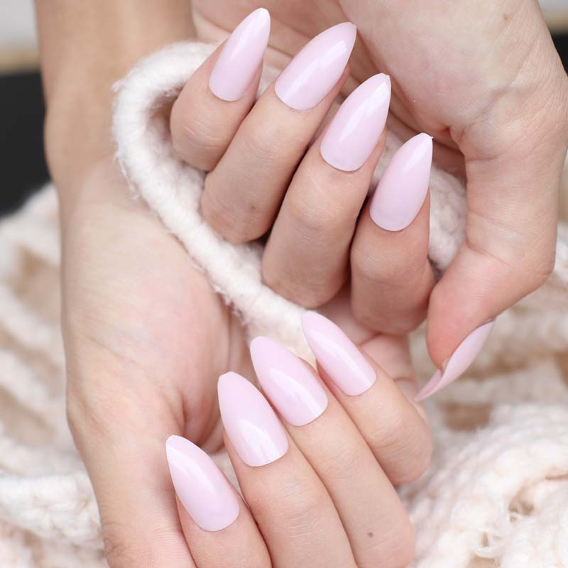 24pcs New Fashion Long Pointed Candy False Nails Tail Tip Nail