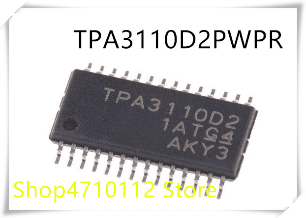 1PCS AUDIO POWER AMPLIFIER IC TI HTSSOP-28 TPA3110D2 TPA3110D2PWP TPA3110D2PWPR
