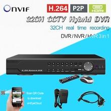 TEATE 32ch H.264 grabación en tiempo real de Seguridad vigilancia de video grabador dvr HDMI 1080 P 32 ch sistema de DVR para la vigilancia CK-043