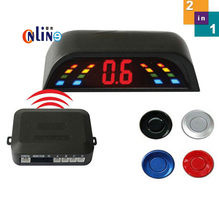 Wireless 2.4 GHz Transmitter Receiver Kit Car LED Parking Sensor with 4 Sensors 6 Colors + Sound Alarm. Easy to install